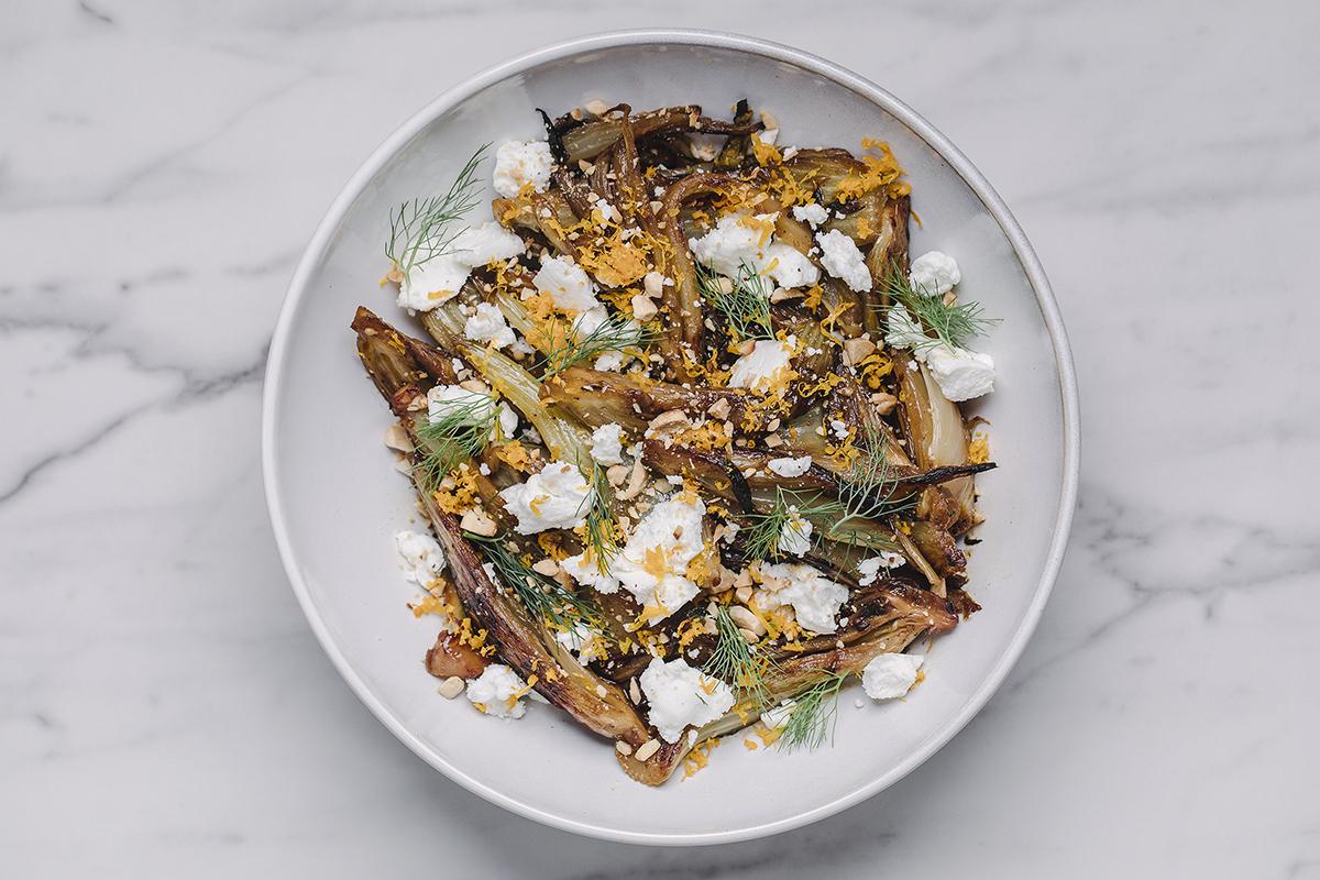 Salada de erva-doce grelhada